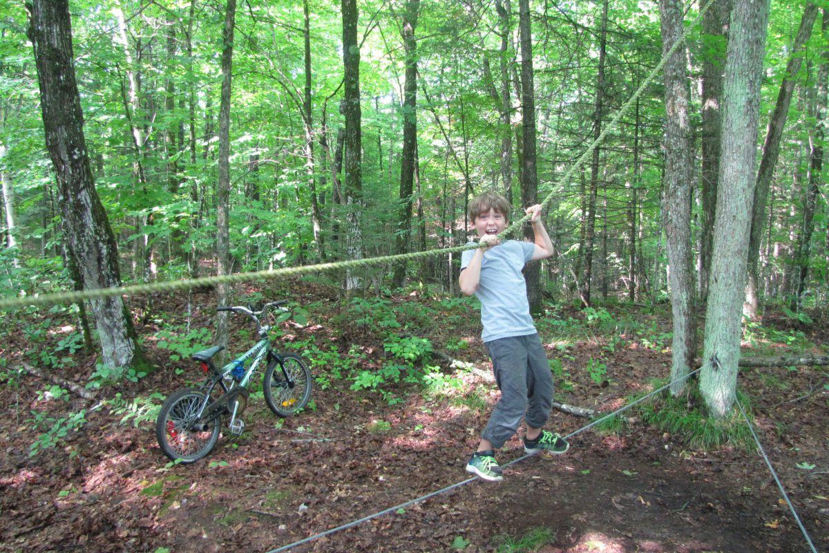 Bear Creek Outdoor Centre low ropes course.