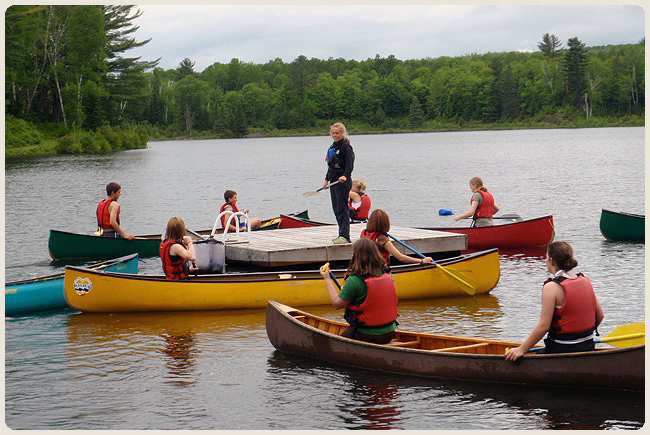 School group canoe lesson.