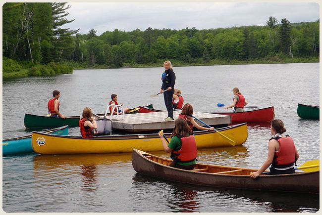 School group canoe lesson.